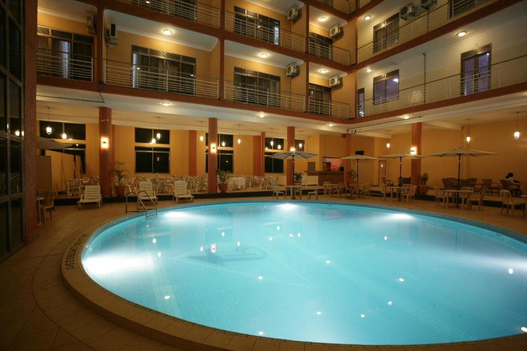 The swimming pool at or near Hotel Triangle