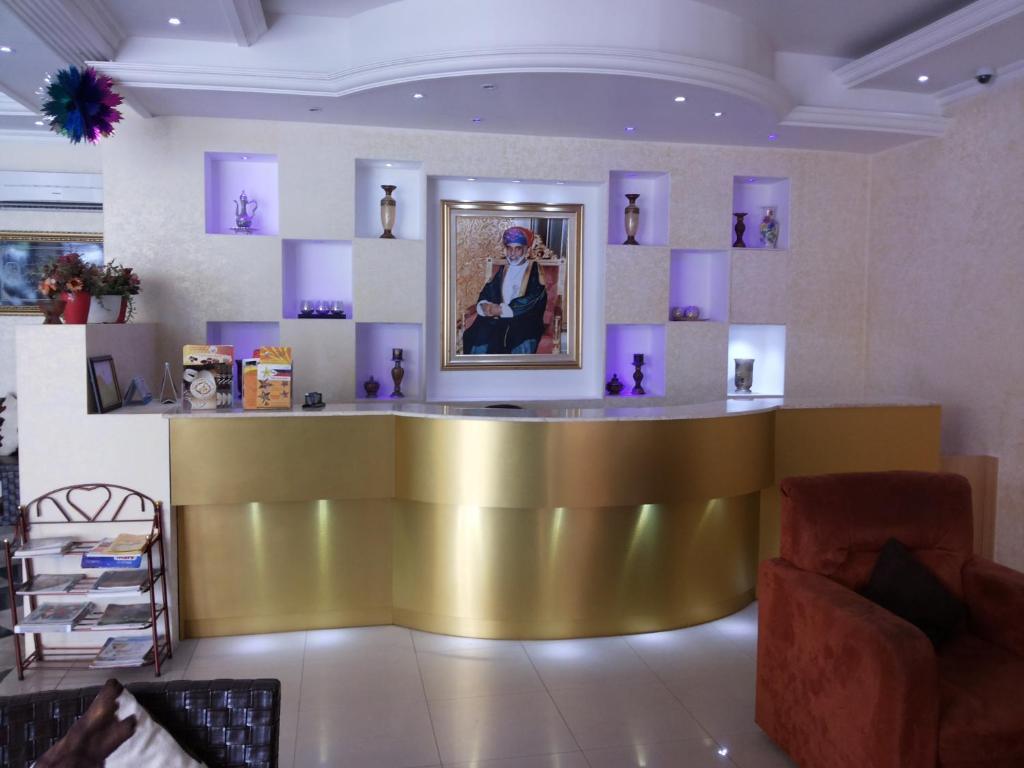 The lobby or reception area at Dar Al Deyafa Hotel Apartment