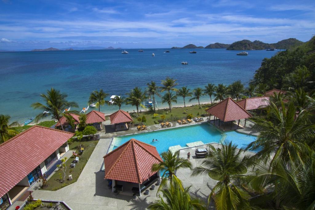 Vista de la piscina de Laprima Hotel Flores o alrededores