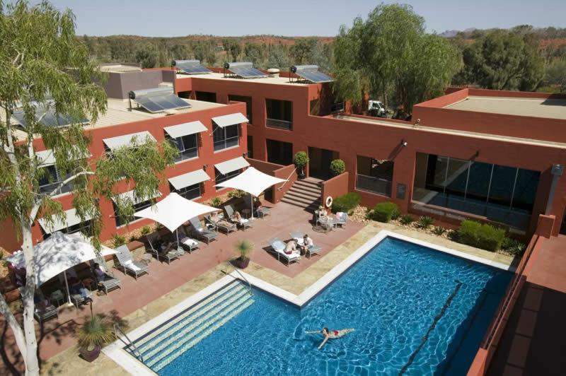 A view of the pool at The Lost Camel Hotel or nearby