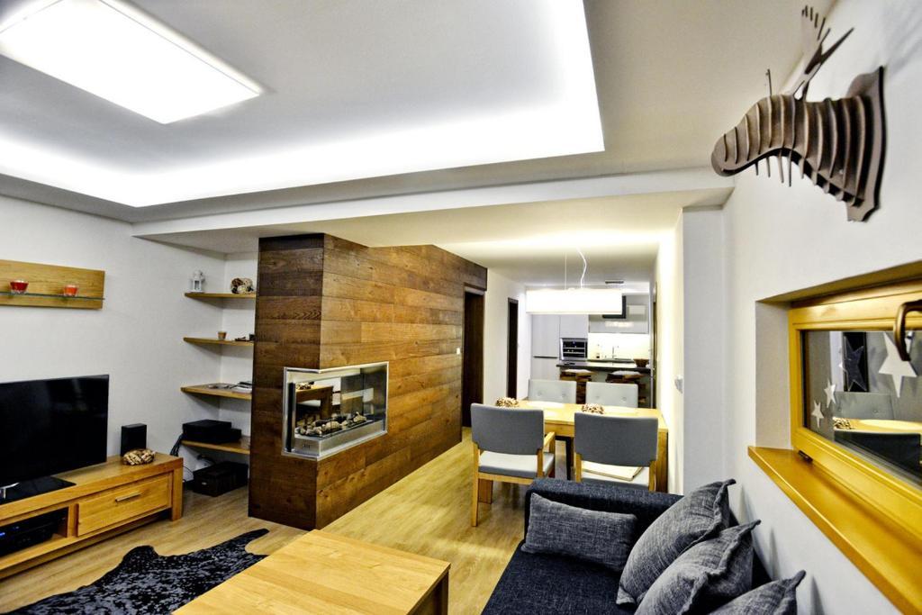 Posezení v ubytování Luxury Wellness Apartment