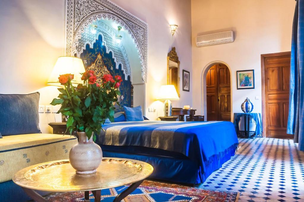Un ou plusieurs lits dans un hébergement de l'établissement Riad Zamane & Spa Fès
