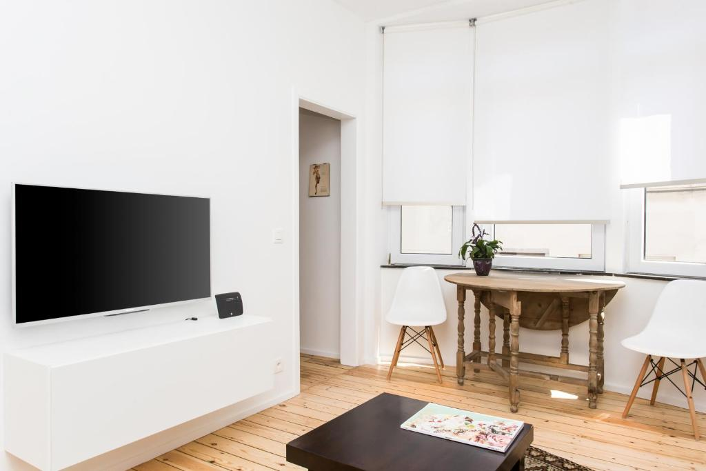 A television and/or entertainment center at Apartment XYZ Brussels