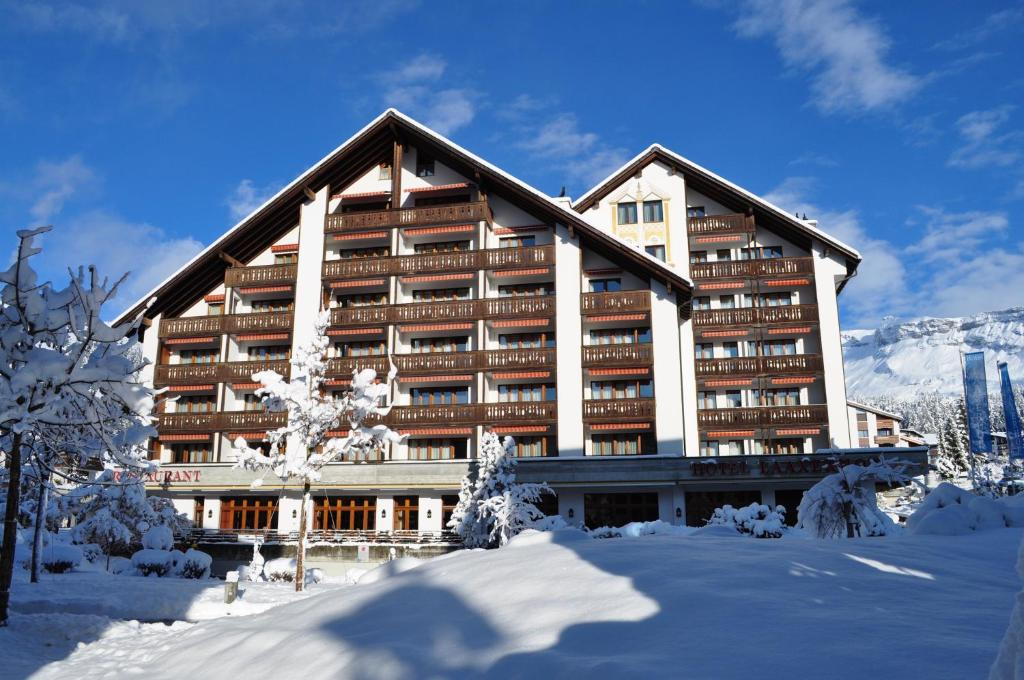 Hotel Laaxerhof during the winter