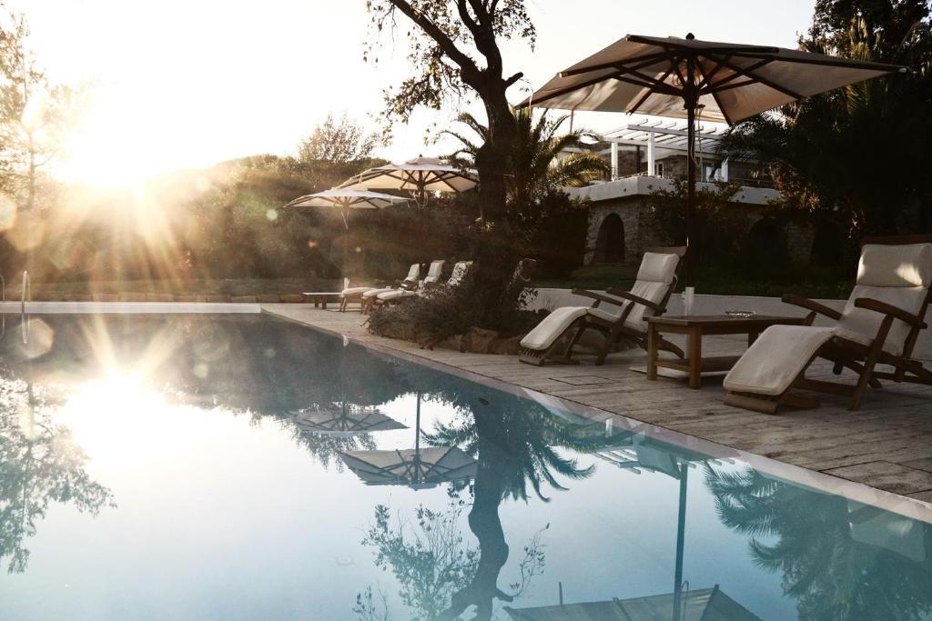 The swimming pool at or near Lanthia Resort