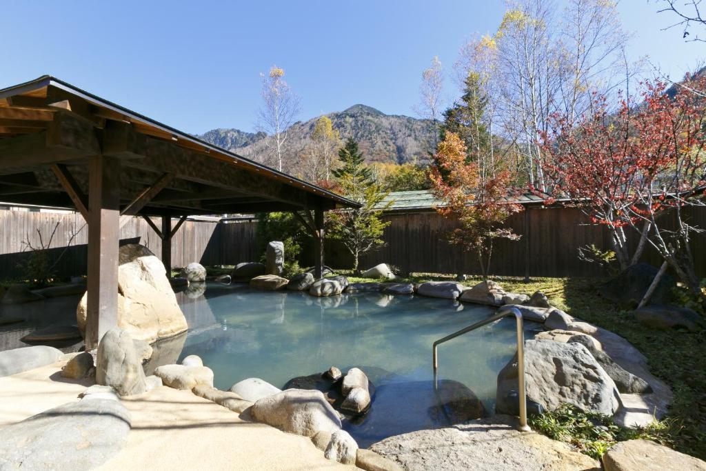 The swimming pool at or near Hodakaso Sanganoyu
