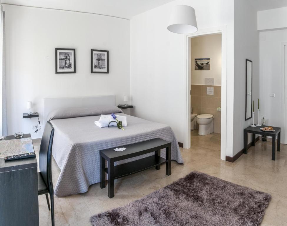 Un ou plusieurs lits dans un hébergement de l'établissement Due Passi