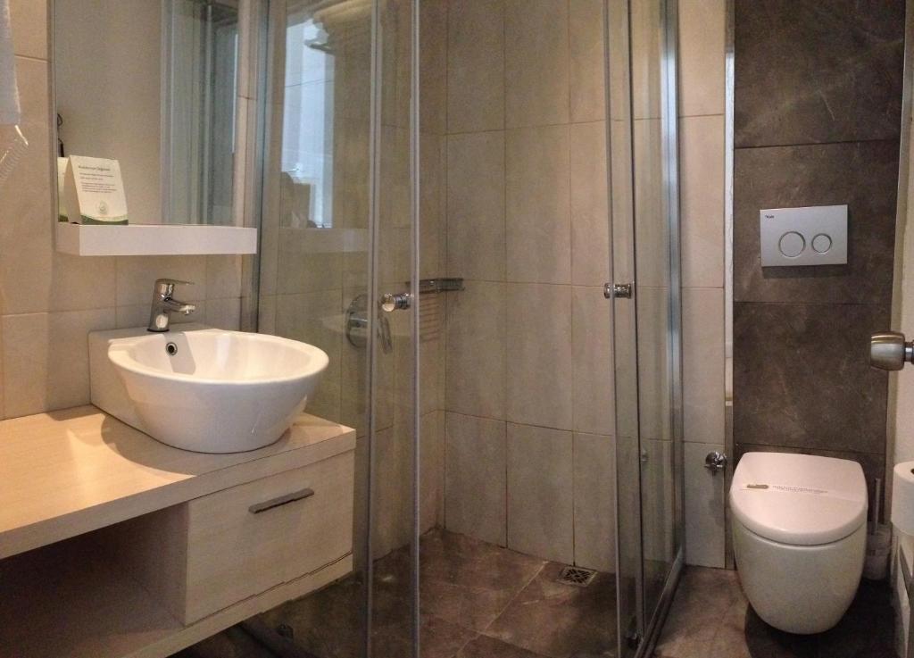 Ванная комната в Doc's Hotel Kemer