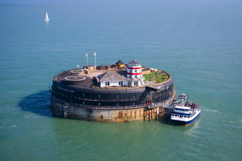 A bird's-eye view of No Man's Fort