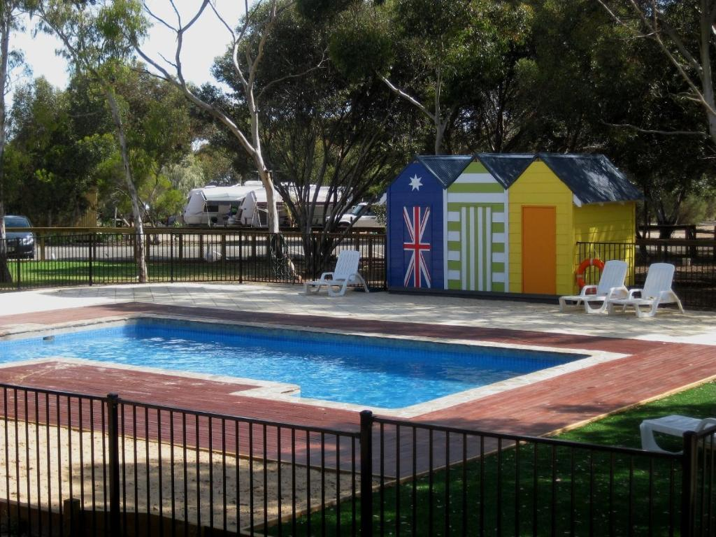 The swimming pool at or near BIG4 Port Willunga Tourist Park