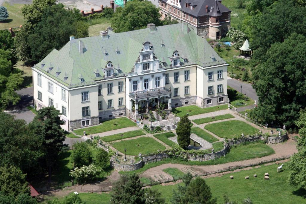 Pałac Frączków с высоты птичьего полета