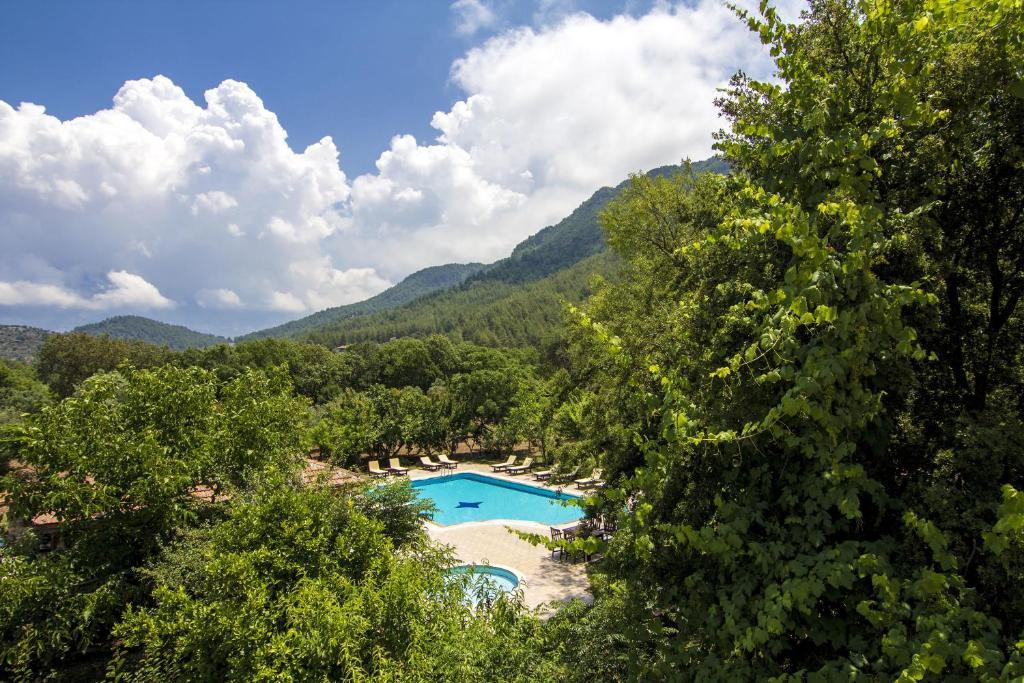 Ein Blick auf den Pool von der Unterkunft Doga Apartments oder aus der Nähe