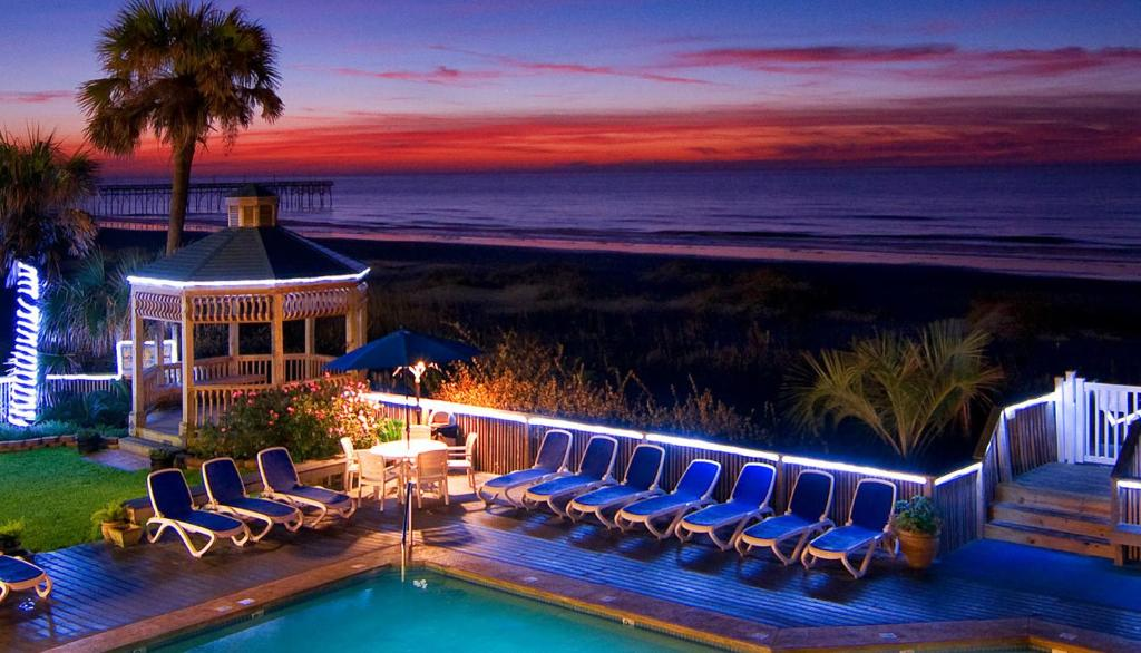 A view of the pool at Ocean Isle Inn or nearby
