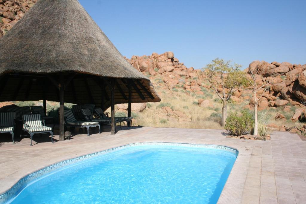 The swimming pool at or near Namib Naukluft Lodge
