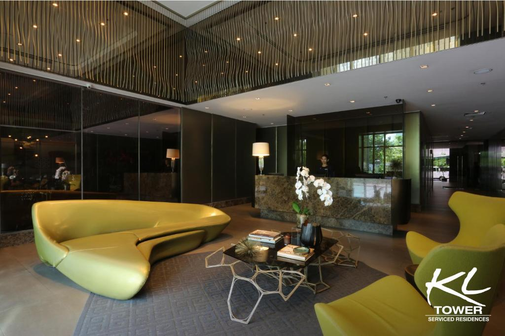 The lobby or reception area at KL Serviced Residences Managed by HII