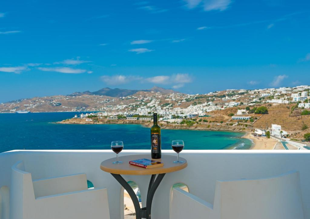 A balcony or terrace at Cape Mykonos