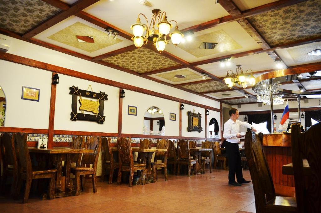 A restaurant or other place to eat at Zona Otdykha Ozero Ponti