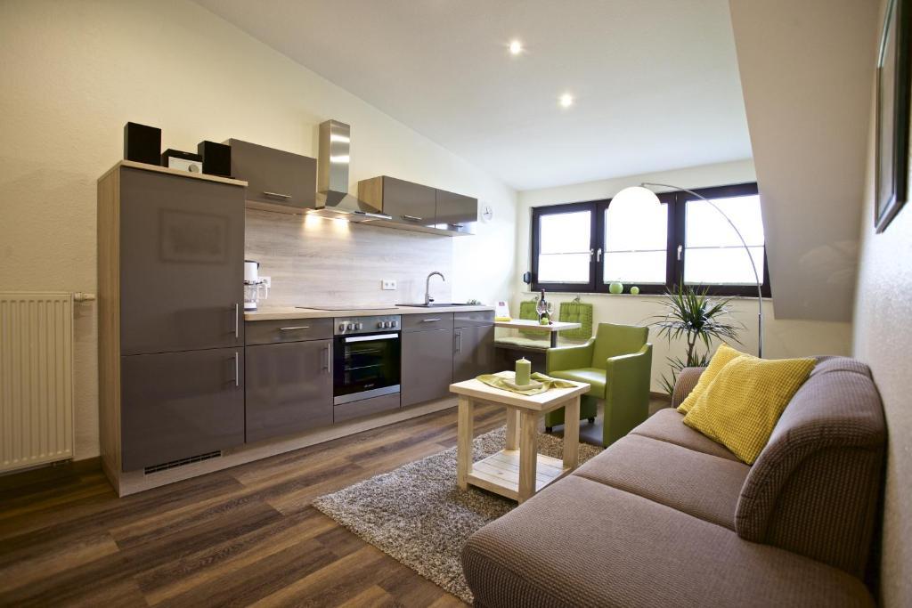 Küche/Küchenzeile in der Unterkunft Wein & Wohngut Paulushof