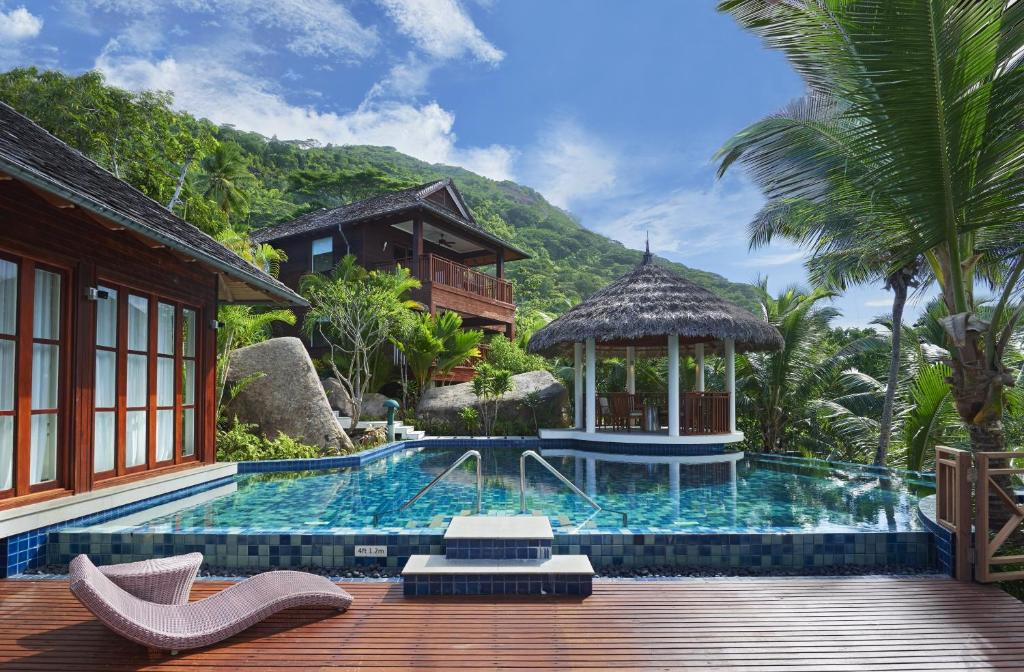 The swimming pool at or near Hilton Seychelles Labriz Resort & Spa