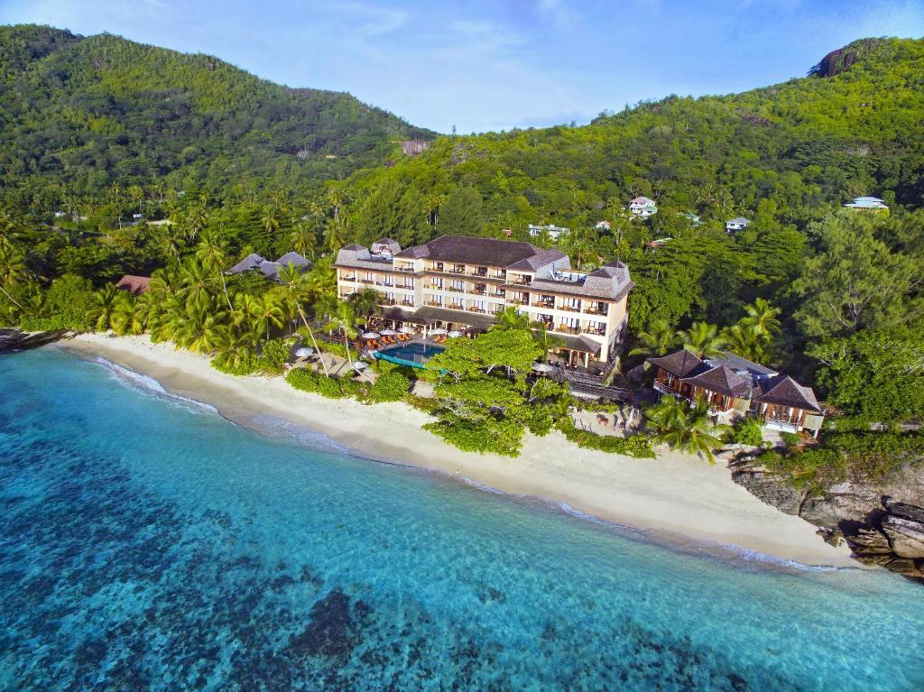A bird's-eye view of DoubleTree by Hilton Seychelles Allamanda Resort & Spa