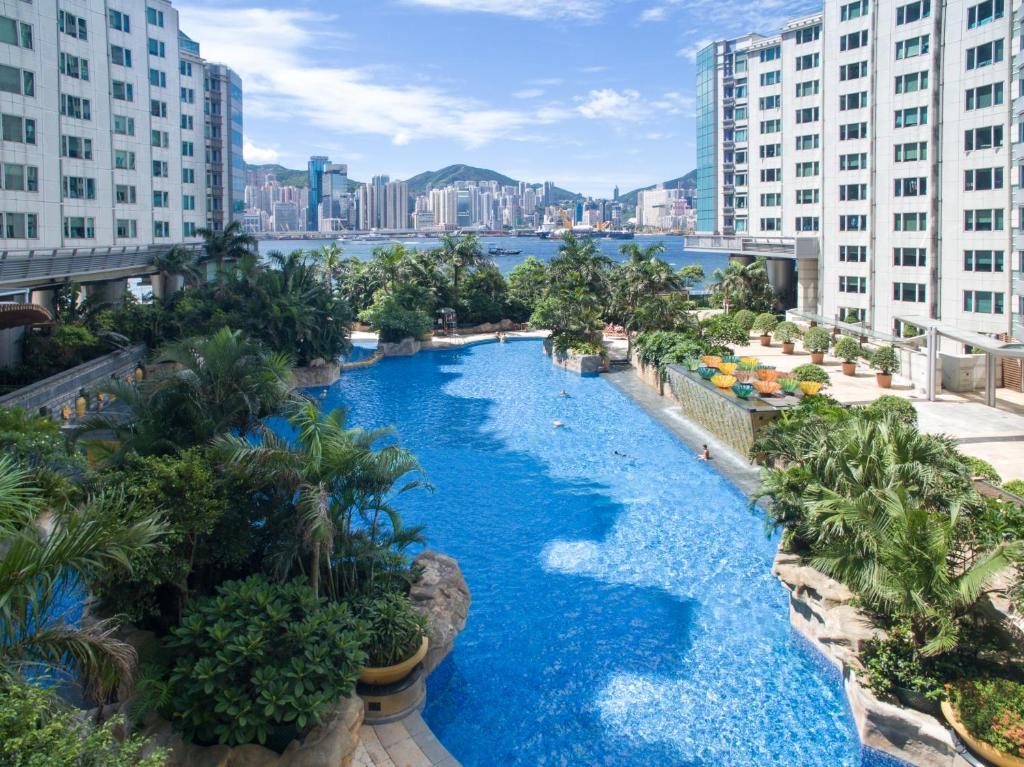 วิวสระว่ายน้ำที่ Kowloon Harbourfront Hotel หรือบริเวณใกล้เคียง