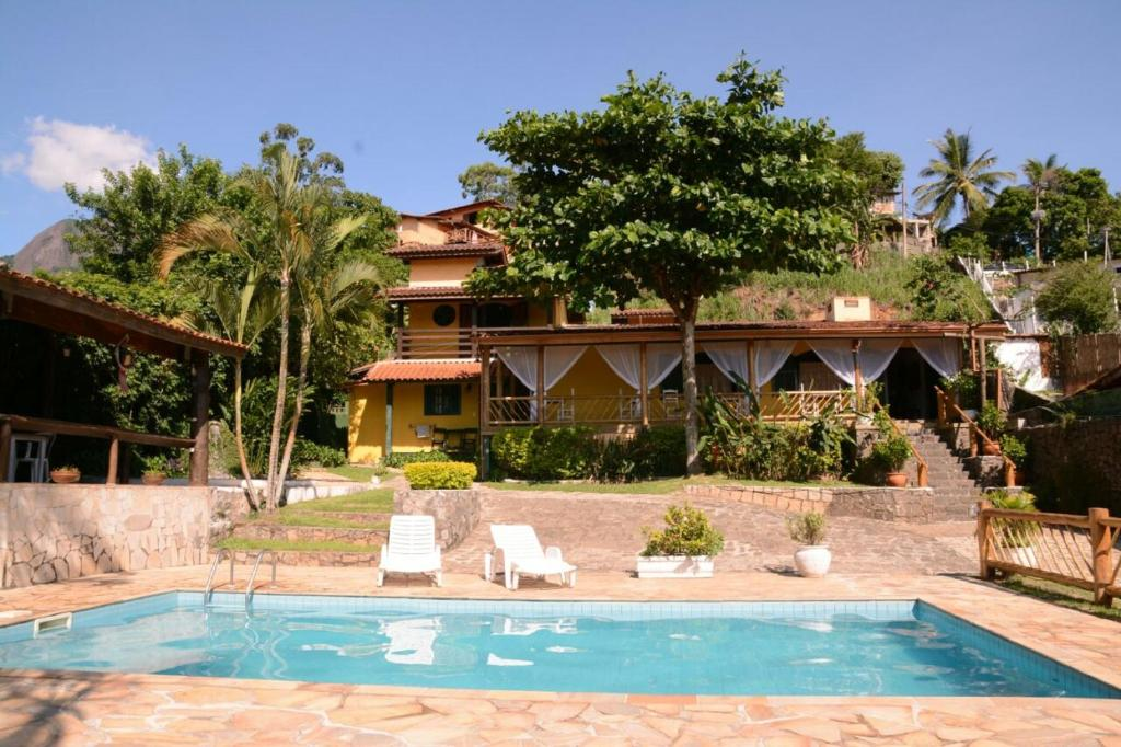 The swimming pool at or close to Pousada Aporan