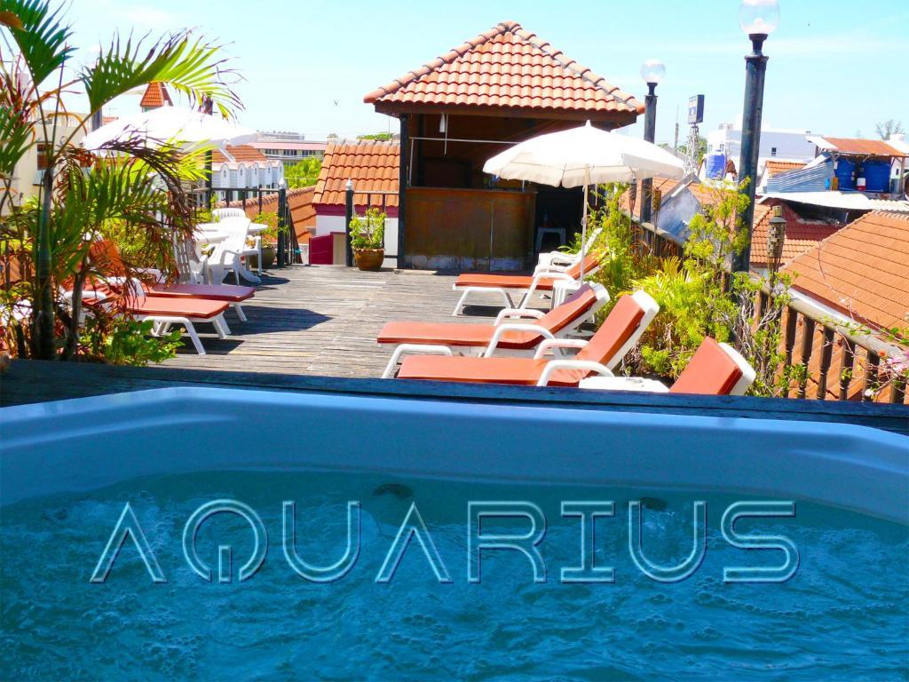 The swimming pool at or near Aquarius Gay Guesthouse & Sauna