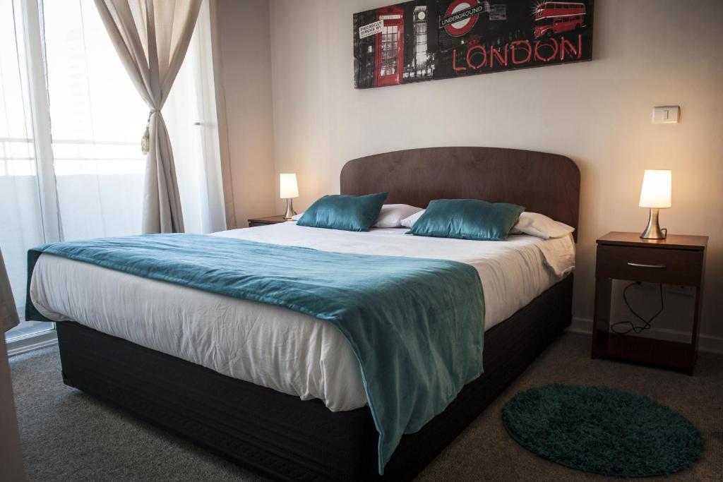 Cama o camas de una habitación en Acero Apartments