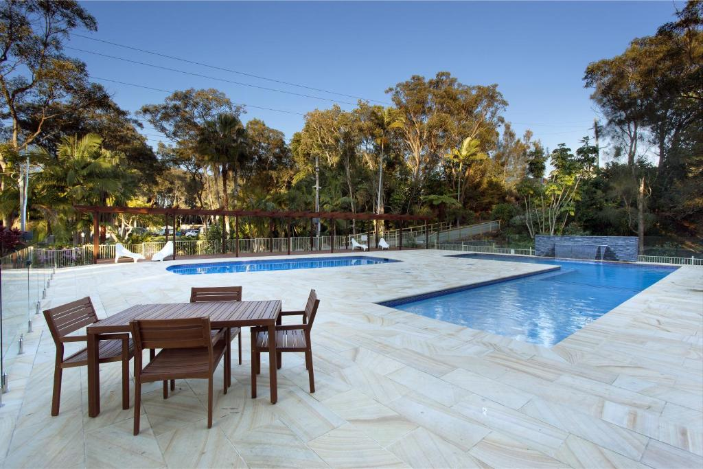The swimming pool at or near Sapphire Beach Holiday Park