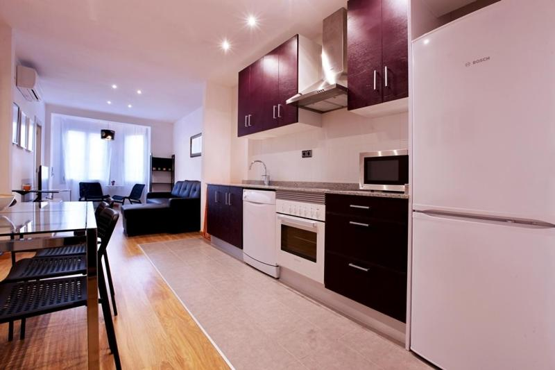 A kitchen or kitchenette at Apartment Park&Beach Deluxe