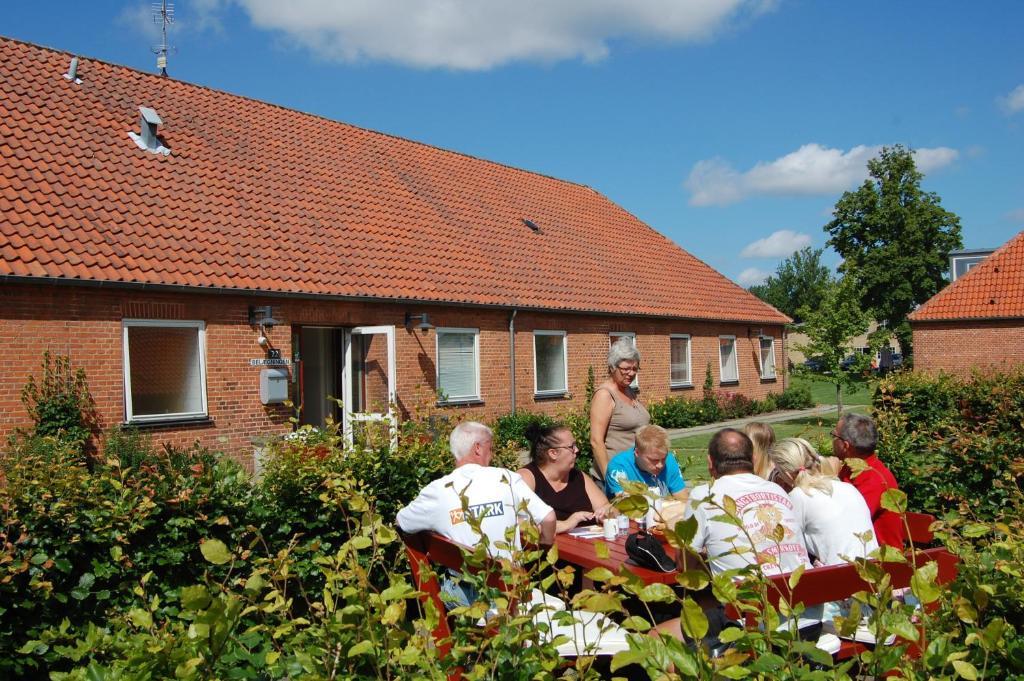 A family staying at Belægningen Hostel