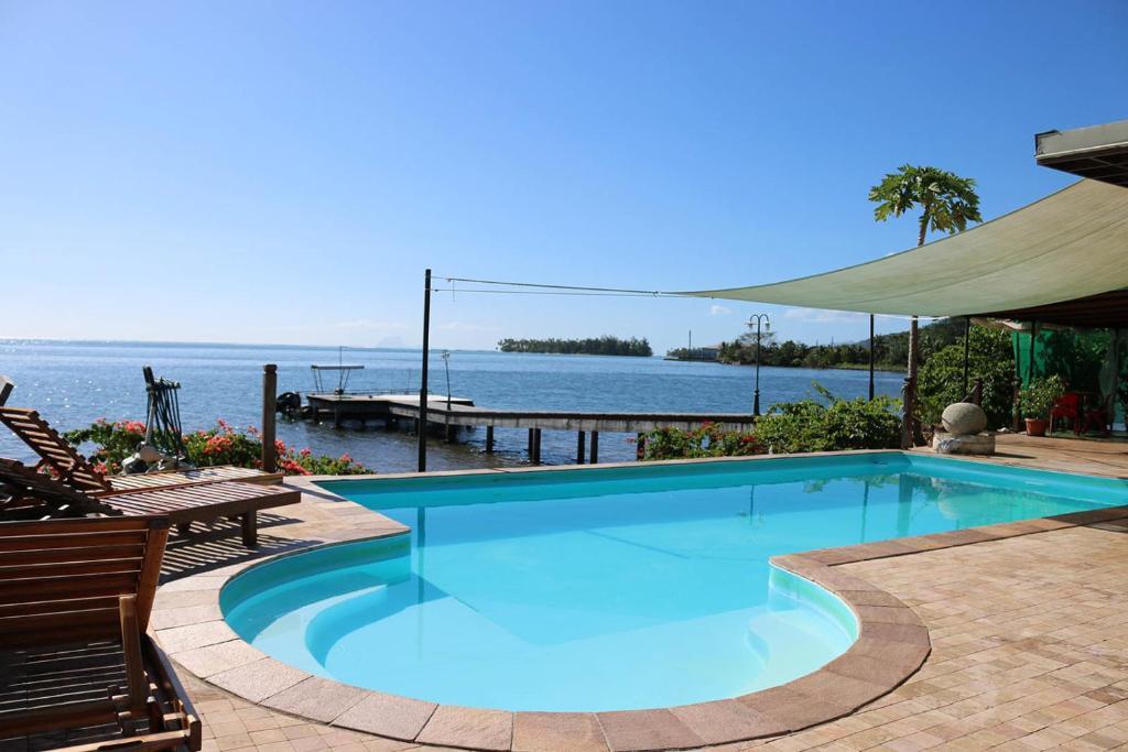 Der Swimmingpool an oder in der Nähe von Fare Vai Nui
