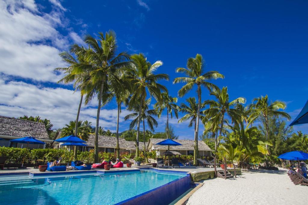 The swimming pool at or near Manuia Beach Resort