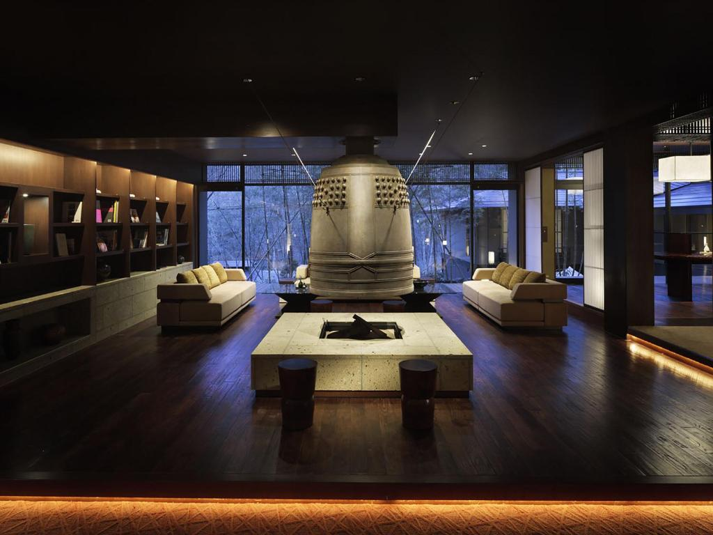 The lounge or bar area at Chikusenso Mt. Zao Onsen Resort & Spa