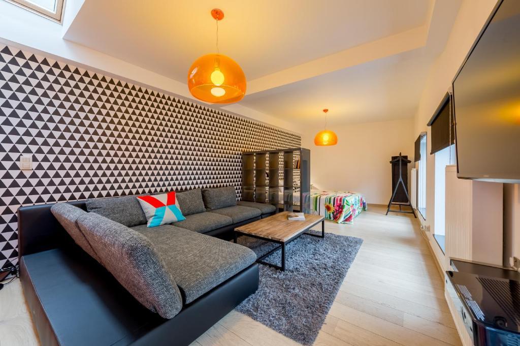 אזור ישיבה ב-Smartflats City - Brusselian
