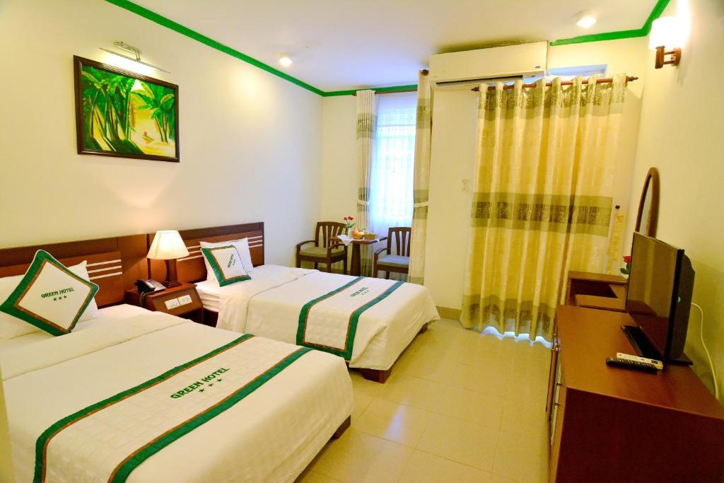 Phòng Deluxe 2 Giường Đơn có Ban công - Nhìn ra Biển