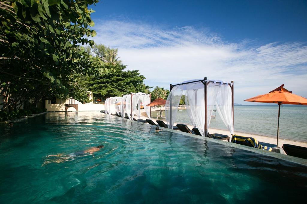 The swimming pool at or near Chantaramas Resort