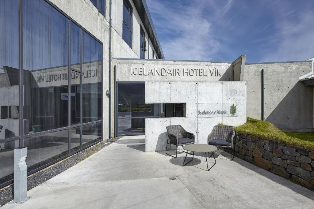 A porch or other outdoor area at Icelandair Hotel Vík