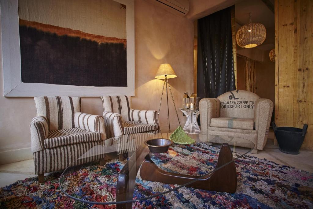 Posezení v ubytování Riad Caravane
