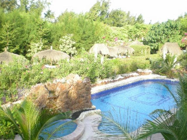 A view of the pool at Le Calao du Lac Rose or nearby
