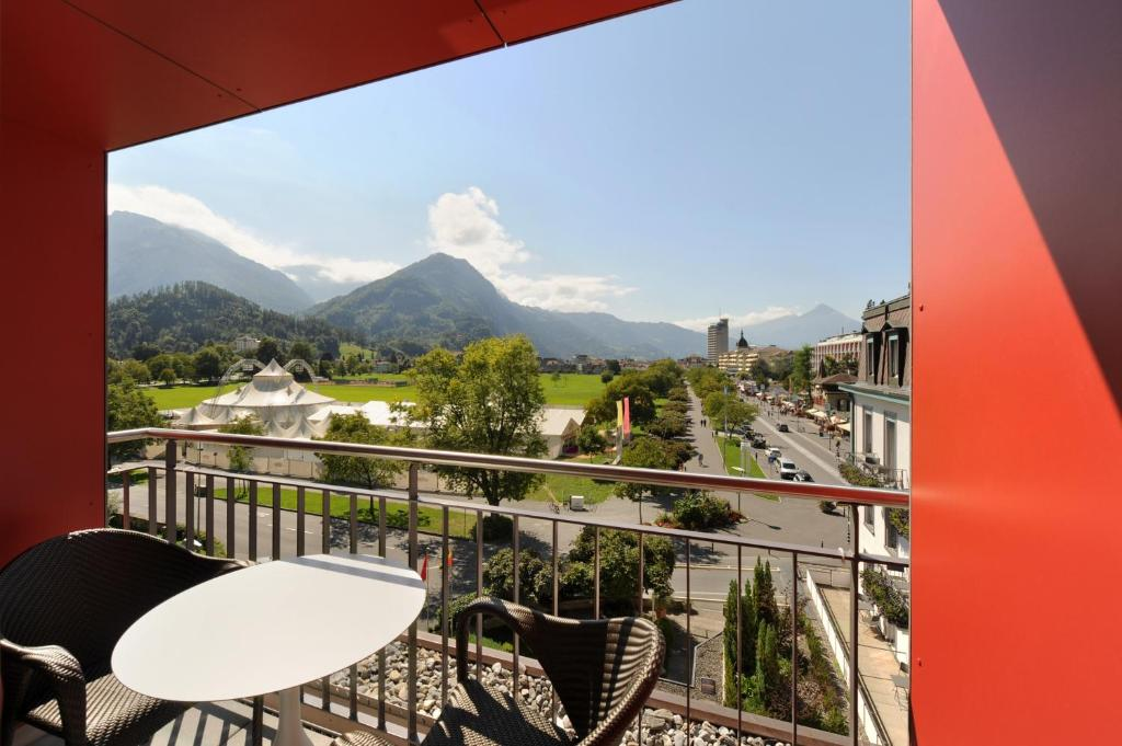 A balcony or terrace at Hotel Du Nord
