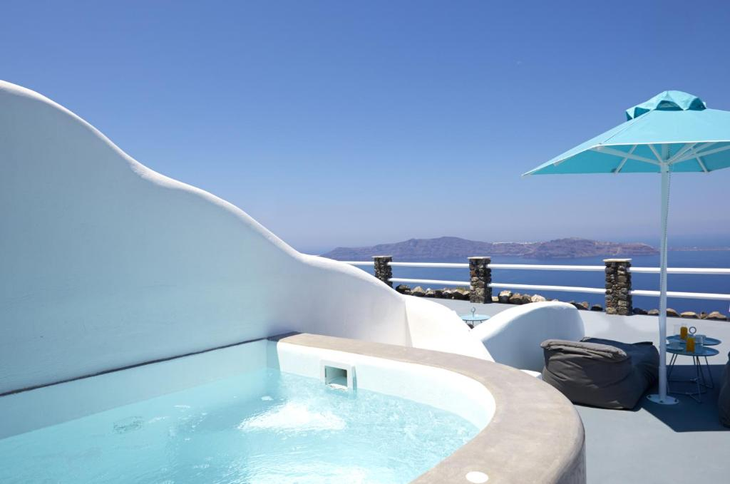 The swimming pool at or near Adore Santorini