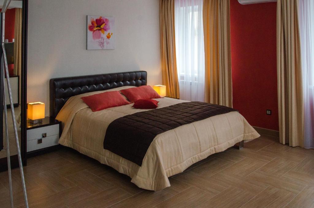 Кровать или кровати в номере Отель Спутник