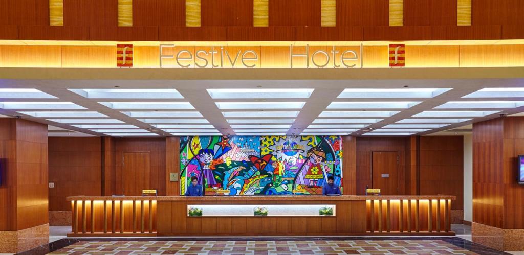 The lobby or reception area at Resorts World Sentosa - Festive Hotel