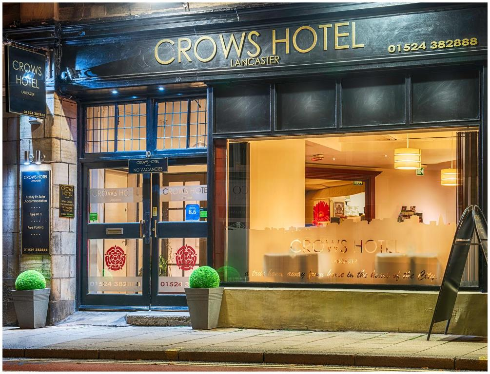 The facade or entrance of Crows Hotel