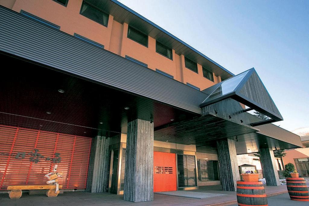 The facade or entrance of Hotel Kanronomori