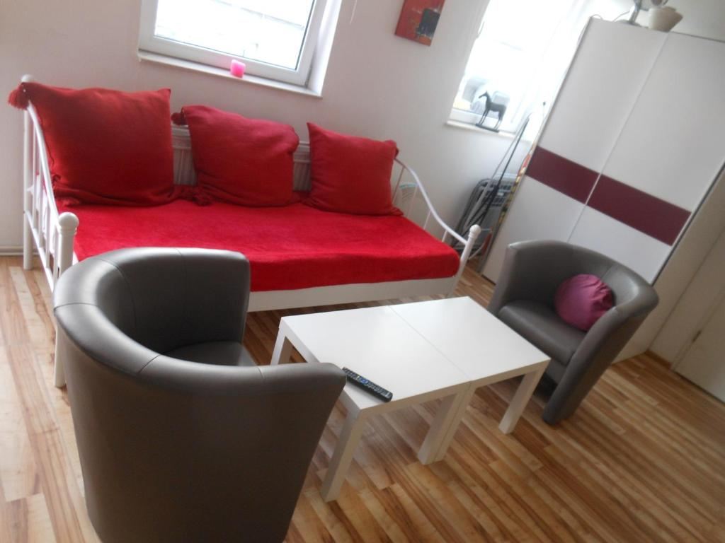 The lounge or bar area at City Apartment Ferienwohnung Bremen