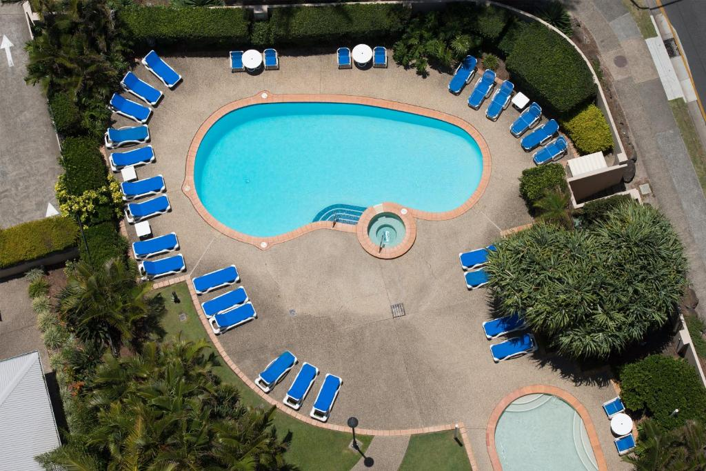 A bird's-eye view of BreakFree Longbeach Resort