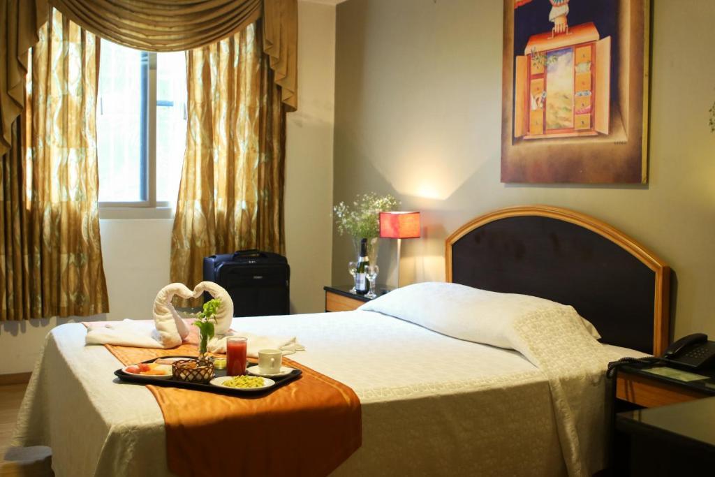 Cama o camas de una habitación en Hotel Alexander