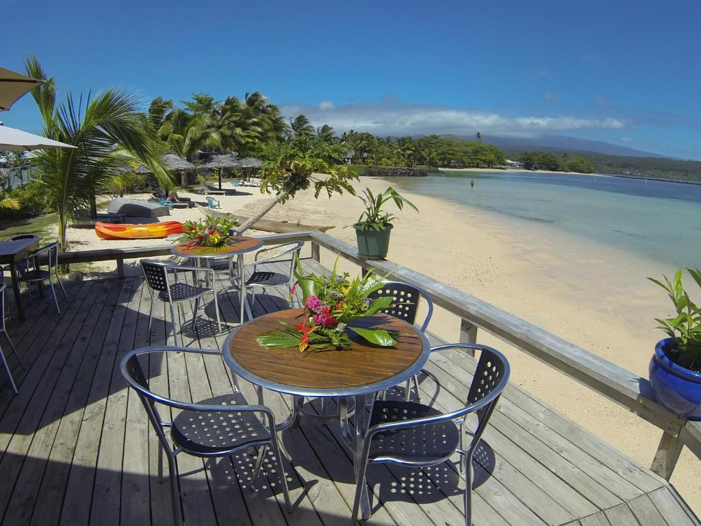 A balcony or terrace at Savaii Lagoon Resort